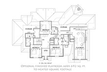 European Floor Plan - Upper Floor Plan Plan #1054-30