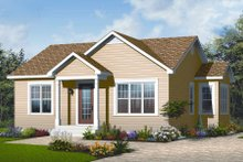 Dream House Plan - Ranch Exterior - Front Elevation Plan #23-2199