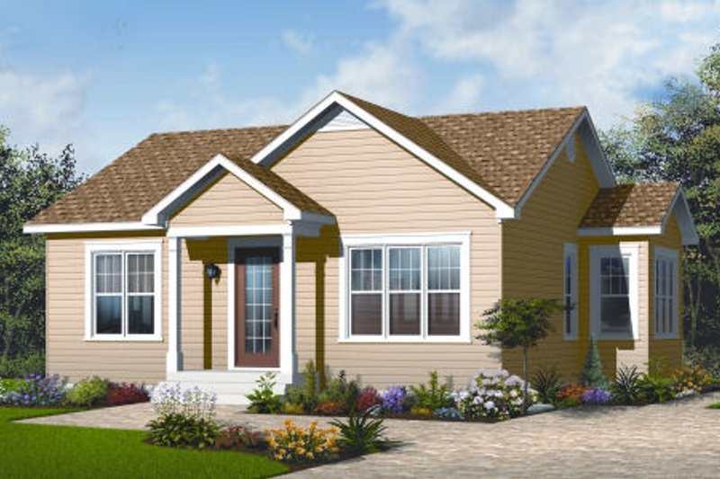 Architectural House Design - Ranch Exterior - Front Elevation Plan #23-2199
