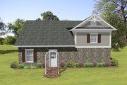 Craftsman Style House Plan - 1 Beds 1.5 Baths 840 Sq/Ft Plan #56-612 Exterior - Rear Elevation