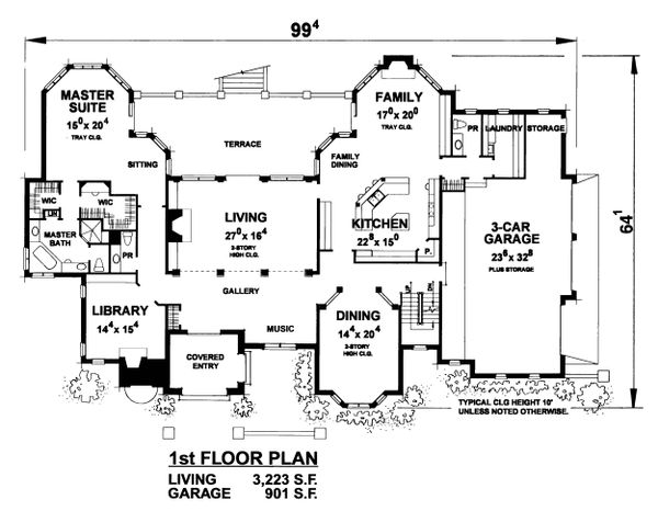 European Floor Plan - Main Floor Plan Plan #20-2318