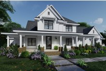 Architectural House Design - Farmhouse Exterior - Front Elevation Plan #120-266