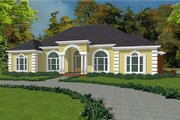 European Style House Plan - 3 Beds 3.5 Baths 3000 Sq/Ft Plan #63-122 Exterior - Front Elevation