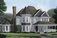 Victorian Exterior - Front Elevation Plan #410-200