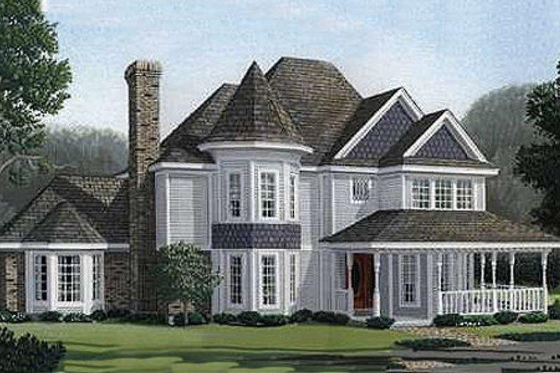 Architectural House Design - Victorian Exterior - Front Elevation Plan #410-200