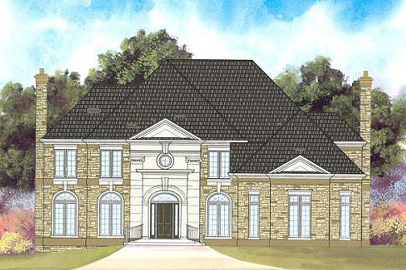 European Exterior - Front Elevation Plan #119-331