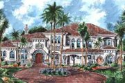 European Style House Plan - 5 Beds 5.5 Baths 7216 Sq/Ft Plan #27-276 Exterior - Front Elevation