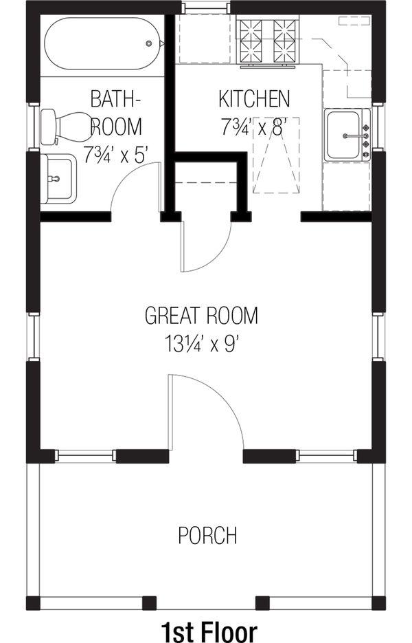 Cottage Floor Plan - Main Floor Plan Plan #915-3