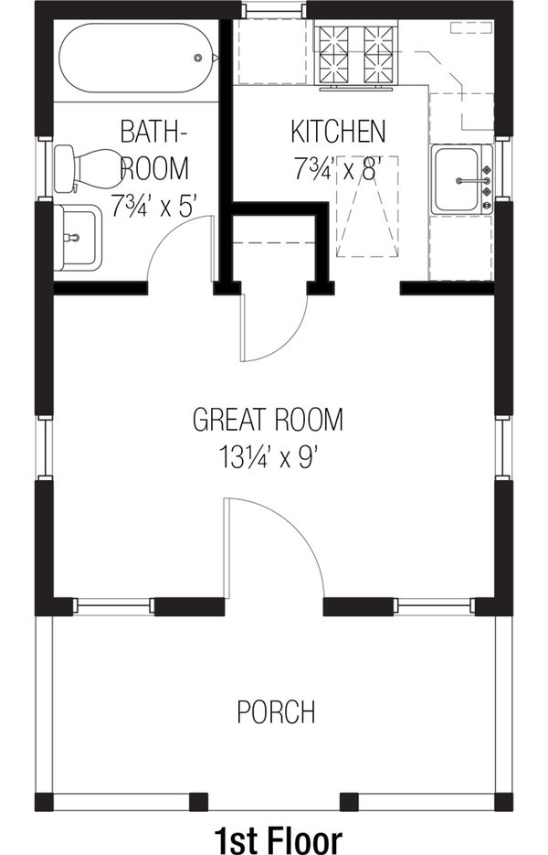 Cottage Floor Plan - Main Floor Plan Plan #915-3