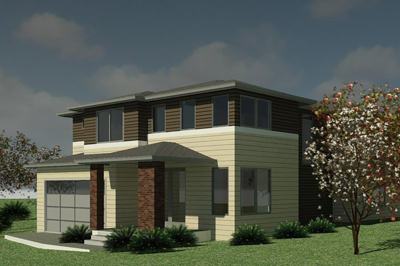 Dream House Plan - Contemporary Exterior - Front Elevation Plan #1066-131