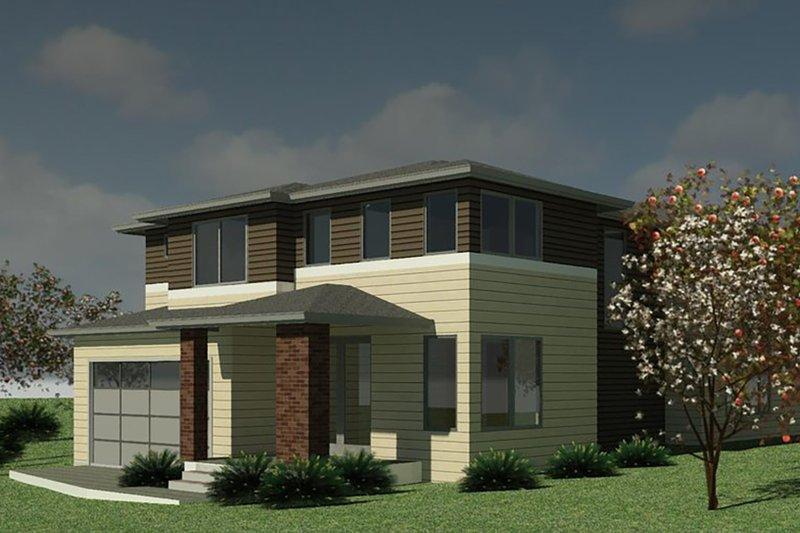 House Plan Design - Contemporary Exterior - Front Elevation Plan #1066-131