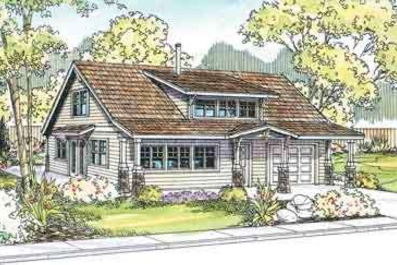 Cottage Exterior - Front Elevation Plan #124-524