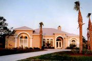 Mediterranean Style House Plan - 3 Beds 2.5 Baths 2323 Sq/Ft Plan #37-123 Exterior - Front Elevation