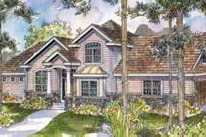 European Exterior - Front Elevation Plan #124-512