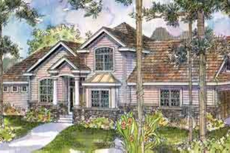 European Style House Plan - 4 Beds 3 Baths 2371 Sq/Ft Plan #124-512 Exterior - Front Elevation