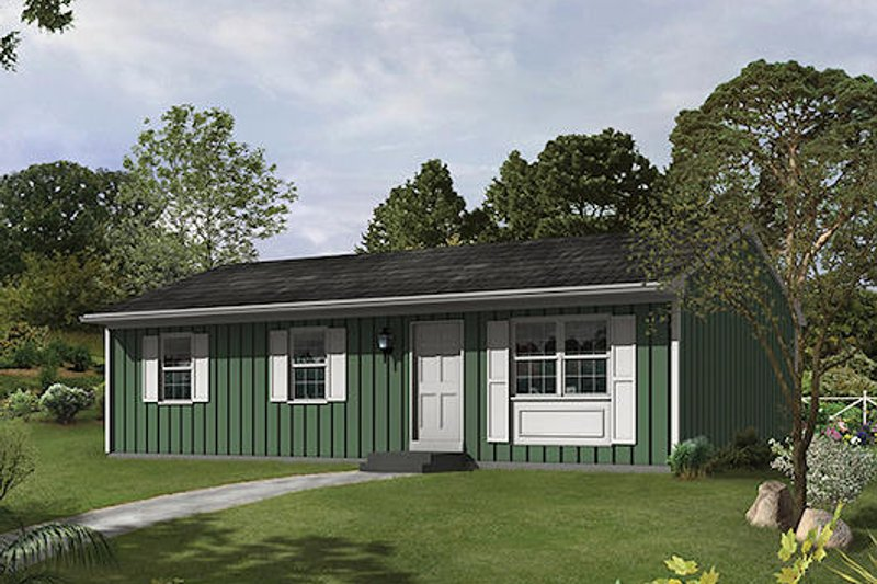 Ranch Style House Plan - 3 Beds 1 Baths 960 Sq/Ft Plan #57-465