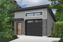 Home Plan - Contemporary Exterior - Front Elevation Plan #23-2634