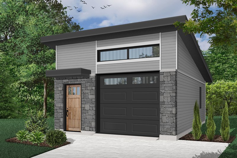 Dream House Plan - Contemporary Exterior - Front Elevation Plan #23-2634