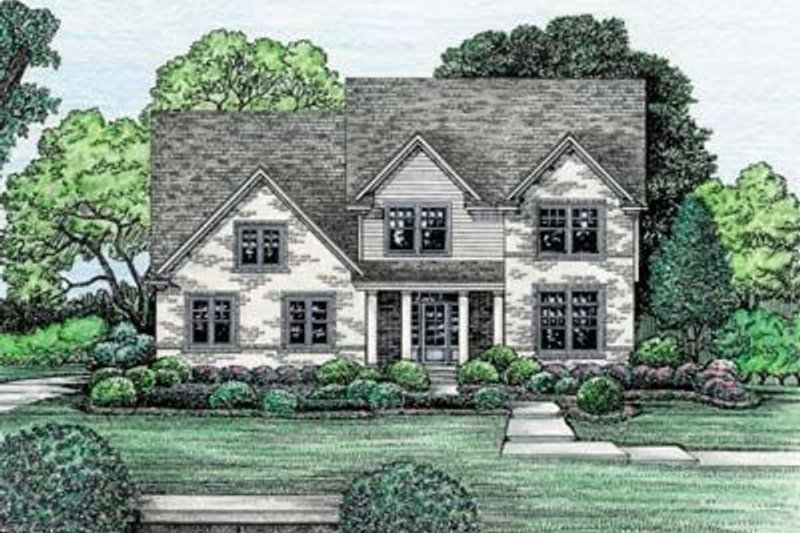 Traditional Exterior - Front Elevation Plan #20-978 - Houseplans.com