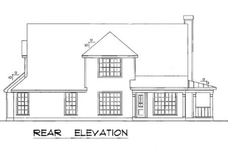 Country Exterior - Rear Elevation Plan #40-386 - Houseplans.com