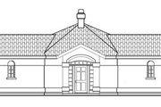 Mediterranean Style House Plan - 2 Beds 2.5 Baths 1778 Sq/Ft Plan #124-430 Exterior - Rear Elevation