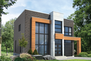 Contemporary Style House Plan - 3 Beds 1 Baths 1736 Sq/Ft Plan #25-4416 Exterior - Front Elevation