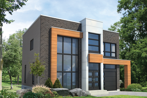 Contemporary Exterior - Front Elevation Plan #25-4416