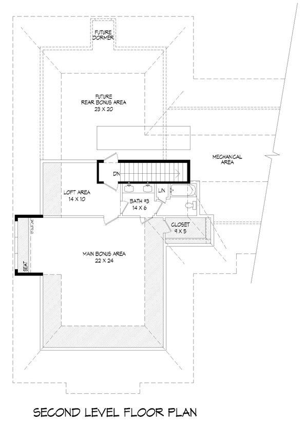 Country Floor Plan - Upper Floor Plan Plan #932-314