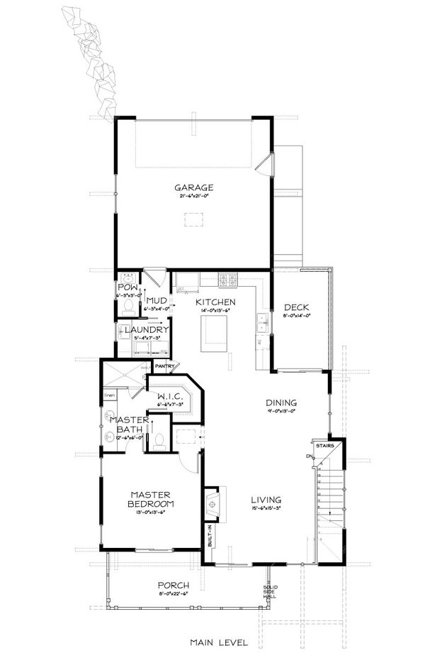 Craftsman Floor Plan - Main Floor Plan #895-89