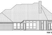 European Style House Plan - 4 Beds 3 Baths 2538 Sq/Ft Plan #84-555 Exterior - Rear Elevation