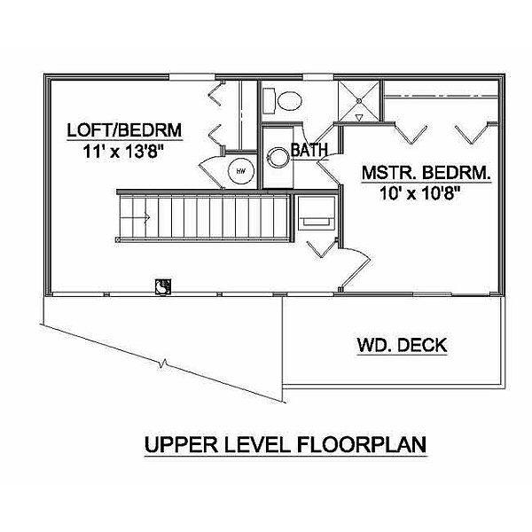Modern Floor Plan - Upper Floor Plan #116-103