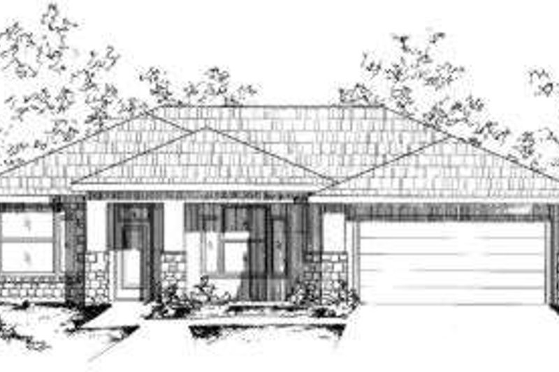 Modern Style House Plan - 4 Beds 2 Baths 1735 Sq/Ft Plan #24-216 Exterior - Front Elevation