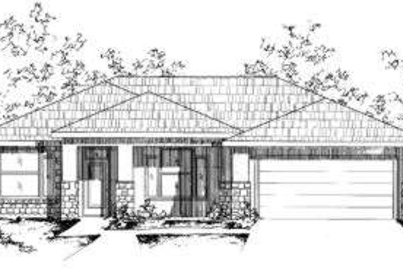 Modern Style House Plan - 4 Beds 2 Baths 1735 Sq/Ft Plan #24-216