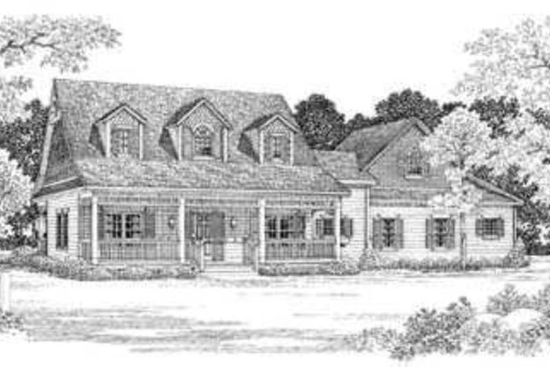 Country Exterior - Front Elevation Plan #72-133 - Houseplans.com
