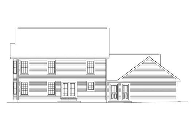 Southern Exterior - Rear Elevation Plan #57-230 - Houseplans.com