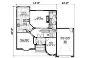 European Style House Plan - 3 Beds 2.5 Baths 2121 Sq/Ft Plan #138-336 Floor Plan - Main Floor Plan