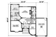 European Style House Plan - 3 Beds 2.5 Baths 2121 Sq/Ft Plan #138-336 Floor Plan - Main Floor