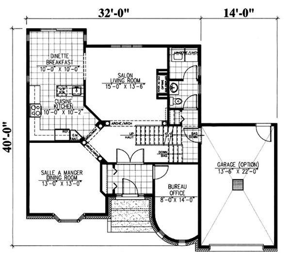 European Floor Plan - Main Floor Plan Plan #138-336