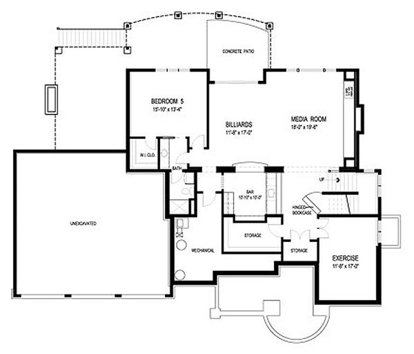 Traditional Floor Plan - Lower Floor Plan Plan #56-603