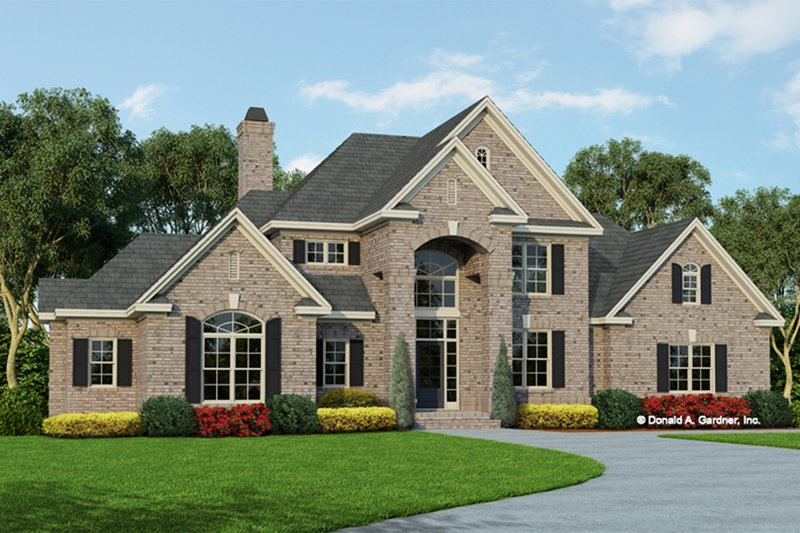European Exterior - Front Elevation Plan #929-884