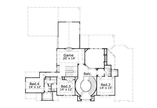 European Floor Plan - Upper Floor Plan #411-211