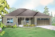 Dream House Plan - Ranch Exterior - Front Elevation Plan #124-902