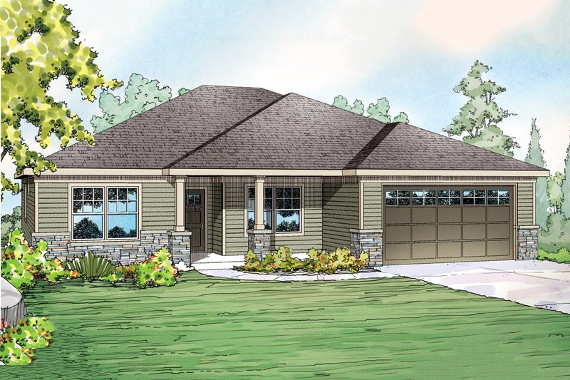 Home Plan - Ranch Exterior - Front Elevation Plan #124-902