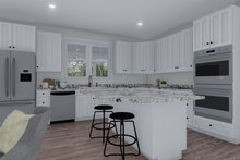 Cottage Interior - Kitchen Plan #1060-64