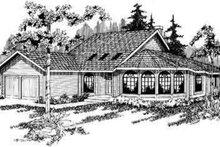 Exterior - Front Elevation Plan #124-106