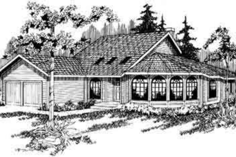Exterior - Front Elevation Plan #124-106