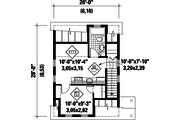 Country Style House Plan - 0 Beds 0 Baths 432 Sq/Ft Plan #25-4438 Floor Plan - Upper Floor Plan