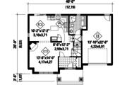European Style House Plan - 3 Beds 1 Baths 1699 Sq/Ft Plan #25-4852 Floor Plan - Main Floor Plan