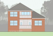 Home Plan - Traditional Exterior - Rear Elevation Plan #930-497