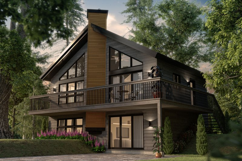 Modern Style House Plan - 3 Beds 2 Baths 1574 Sq/Ft Plan #23-2021 Exterior - Front Elevation
